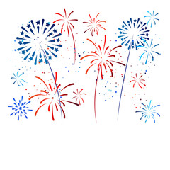 fireworks holiday banner. USA Independence Day Background