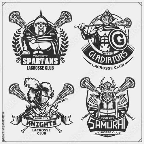 Hockey badges, labels and design elements  Sport club