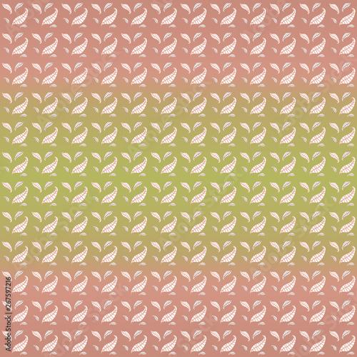 Pattern Con Piccole Foglie Chiare Su Sfondo Sfumato Stock Photo And