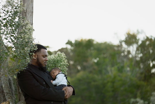 Father and Son In Rural Setting