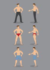 Hot Shirtless Beefcakes Vector Character Set