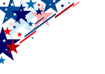 Abstract USA background design independence day banner vector illustration