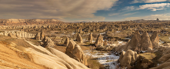 Rock formations from Cappadocia region of Turkey