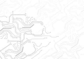 Abstract technology vector circuit on white background