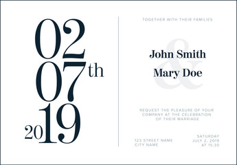 Typographic Wedding Invitation Layout