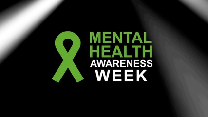 Mental Health Awareness in May an annual campaign in the United States highlighting awareness of mental health.  Design illustration
