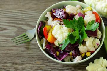 fresh cauliflower salad for healthy eating