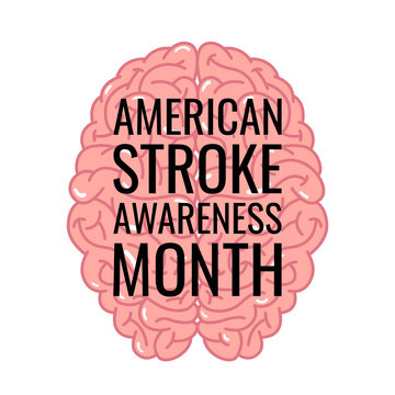 Stroke awareness month design in flat style