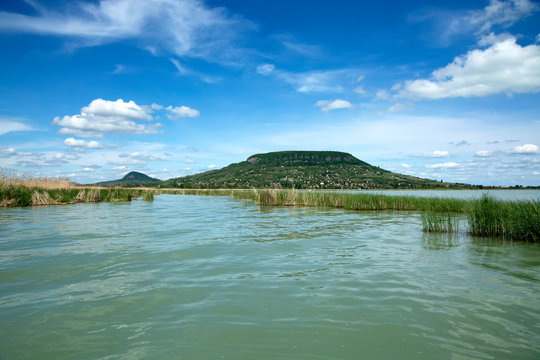 Landscape of Lake Balaton from Szigliget, Hungary