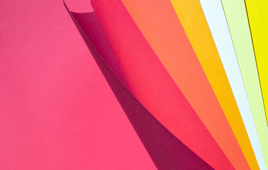 Color spectrum papers as an abstract background