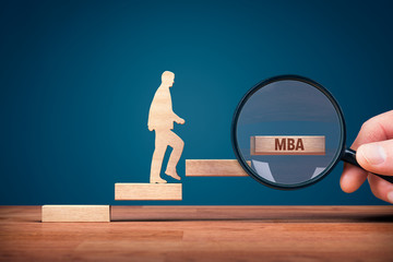 Businessman want to growth and get MBA education