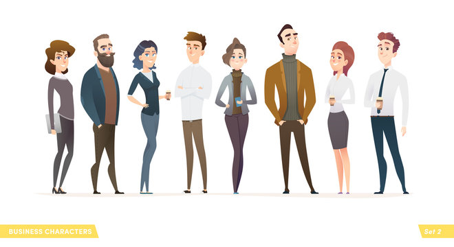 Business people design collection