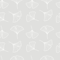 Fototapete - Vector Illustration ginkgo biloba leaves