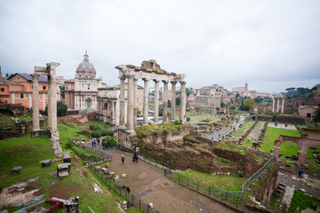 Imperial forums view, Rome, Italy. Roma landscape