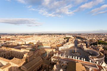 Saint Peter square aerial view, Vatican city