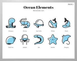 Ocean elements MonoColor pack
