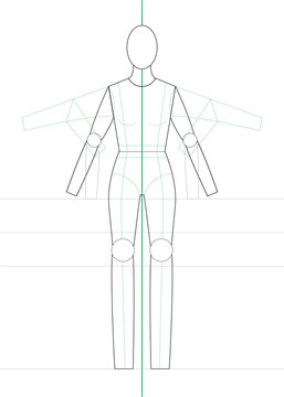 full-body mannequin, woman template