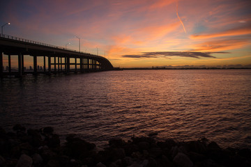 Sunrise at Rickenbacker bridge