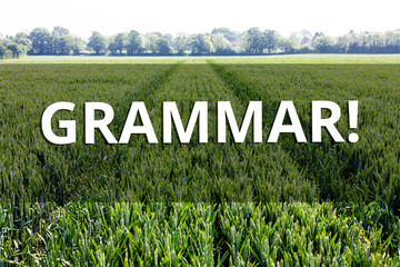 Handwriting text Grammar. Conceptual photo whole system structure language syntax and morphology