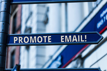 Word writing text Promote Email. Business photo showcasing sending a commercial messages to potential or current clients