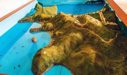 Creative concept model miniature Cat Ba Island Travel Vietnam Top Destinations, Ha Long Bay