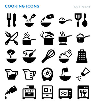 Cooking Vector Icon Set