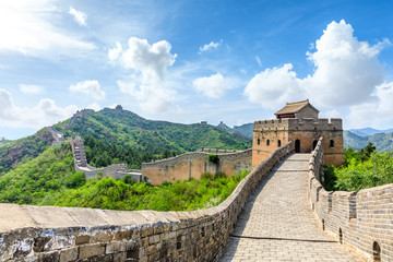 Tuinposter Chinese Muur The Great Wall of China at Jinshanling