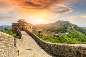 Keuken foto achterwand Chinese Muur The Great Wall of China at sunset,Jinshanling