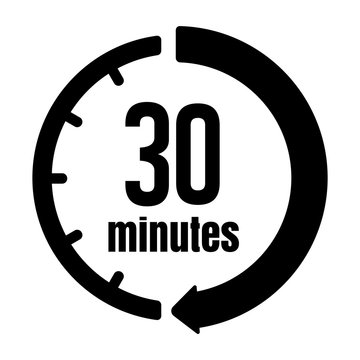 Clock , timer (time passage) icon / 30 minutes