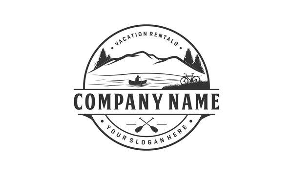 Vacation rental logo design, outdoor logo