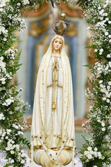Statue of the image of Our Lady of Fatima