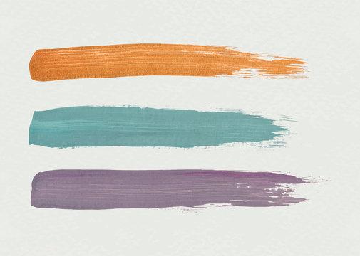 Three brush strokes