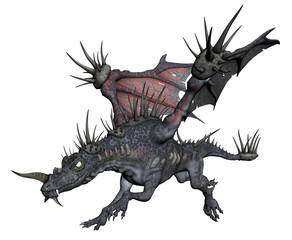 3D Rendered Fantasy Dragon - 3D Illustration