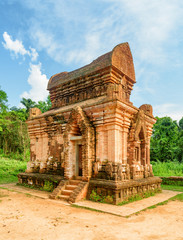 Scenic view of red brick temple of My Son Sanctuary