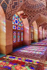 Amazing view inside the Nasir al-Mulk Mosque in Shiraz, Iran