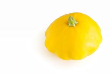Fresh Yellow Pattypan Squash On White Background
