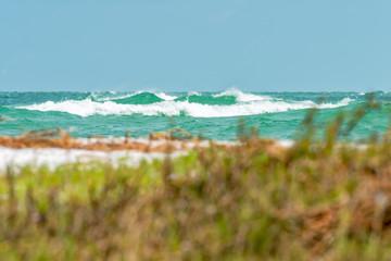 Waves kicking up