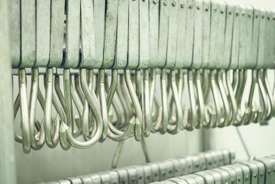 hooks in the slaughterhouse