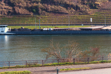 Barge on the Moselle
