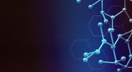 molecule 3d rendering for  science  content.