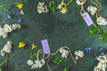 Spring holidays greeting card