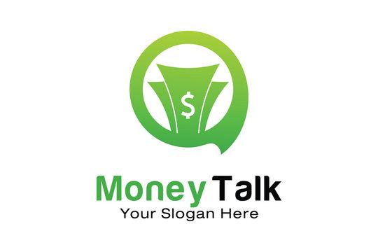 Money Talk logo design template
