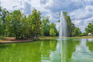 Brunnen im Schlosspark Philippsruhe in Hanau