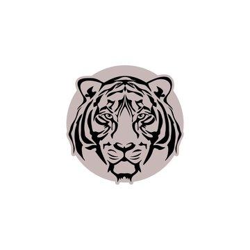 Tiger head icon, Design element for logo