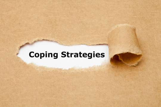 Coping Strategies Torn Paper Concept