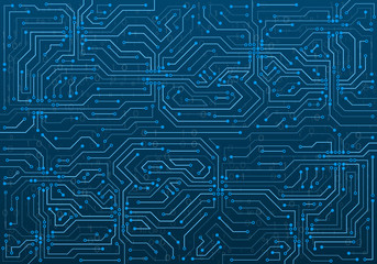 High-tech technology background texture. Circuit board vector illustration. Structure futuristic backdrop.