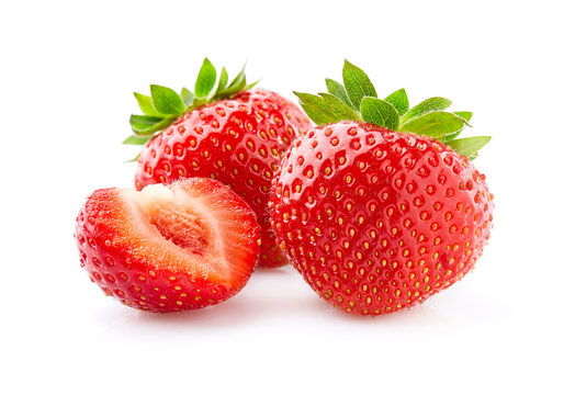 Sweet strawberry on white background