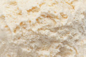 Vanilla ice cream as background.  Summer abstract  White ice cream surface.