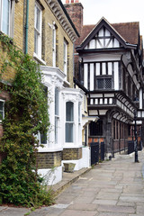 street in old town of Southampton, England