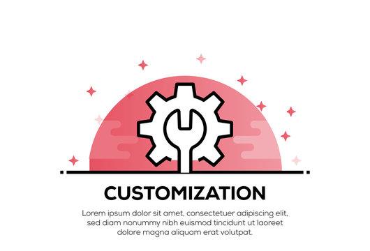 CUSTOMIZATION ICON CONCEPT